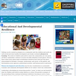 Educational And Developmental Resilience