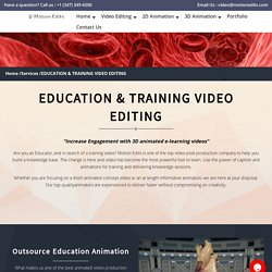 Educational Video Editing Company