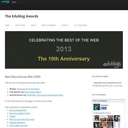 Best Educational Wiki 2009 – The Edublog Awards