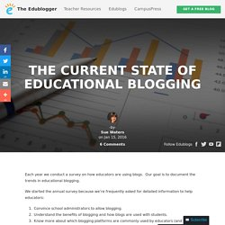 The Current State of Educational Blogging – The Edublogger