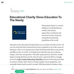 Educational Charity Gives Education To The Needy