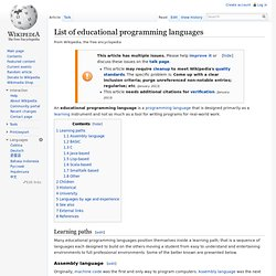 List of educational programming languages