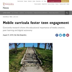New research: mobile media and visual art making impacts educational engagement
