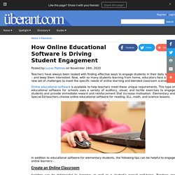 How Online Educational Software is Driving Student Engagement