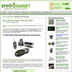 Solar Kits for Kids - Educational Eco Gadgets for Children - EnviroGadget