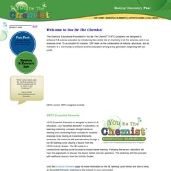 CEF (Chemical Educational Foundation): You Be The Chemist