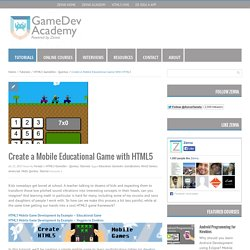 Create a Mobile Educational Game with HTML5