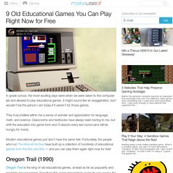 9 Old Educational Games You Can Play Right Now for Free
