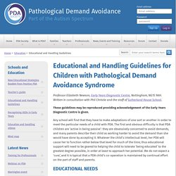 Educational and Handling Guidelines