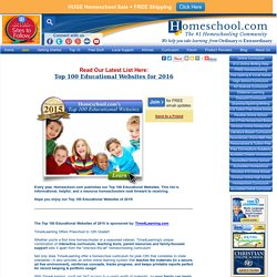 Homeschool.com's Top 100 Educational Websites for 2015 - Homeschooling Articles