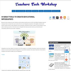 19 Great Tools to Create Educational Infographics ~ Teachers Tech Workshop