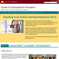 Teaching in an Active Learning Classroom (ALC)
