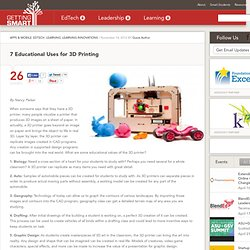 7 Educational Uses for 3D Printing - Getting Smart by Guest Author - EdTech, higher ed, Innovation