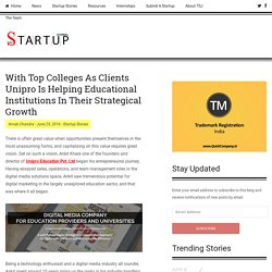 With Top Colleges As Clients Unipro Is Helping Educational Institutions In Their Strategical Growth - The Startup Journal - Indian Startup Stories, Startup News, Startup Resources, Interviews