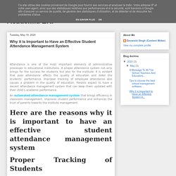 Automation in Educational Institutions by Academia ERP: Why it is Important to Have an Effective Student Attendance Management System
