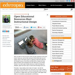Open Educational Resources Meet Instructional Design