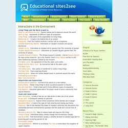 Educational sites2see » Interactions in the Environment