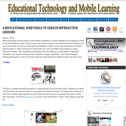 4 Educational Web Tools to Create Interactive Lessons