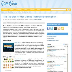 10 Best Free Educational Games: Online Learning That's Fun and Interactive
