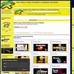 Free Educational Movies - The KidsKnowIt Network - Educational Websites For Kids