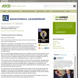 Educational Leadership:What Students Need to Learn:Teaching Science Literacy