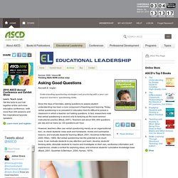 Educational Leadership:Thinking Skills NOW (online only):Asking Good Questions