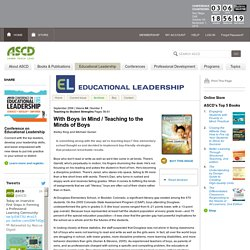 Educational Leadership:Teaching to Student Strengths:Teaching to the Minds of Boys