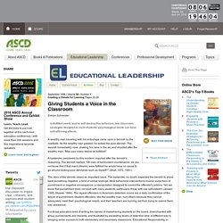Giving Students a Voice in the Classroom - ASCD
