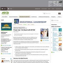 Educational Leadership:Students Who Challenge Us:On Board with BYOD