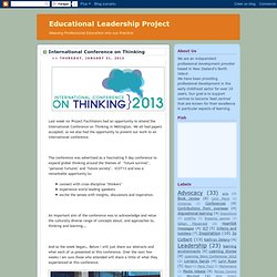 Educational Leadership Project: January 2013