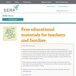Free educational materials for teachers and families
