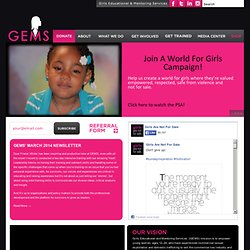 GEMS: Girls Educational & Mentoring Services