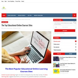 The Top Educational Online Courses Sites