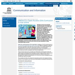 UNESCO's Open Access (OA) Curriculum is now online