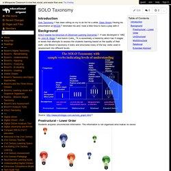 educational-origami - SOLO Taxonomy