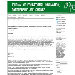 Using Open Badges to support student engagement and evidence based practice