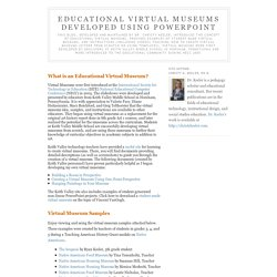 Educational Virtual Museums Developed Using PowerPoint