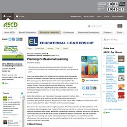 Educational Leadership:Professional Learning: Reimagined:Planning Professional Learning
