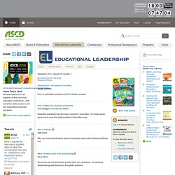 Educational Leadership:Questioning for Learning