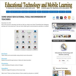 Some Great Educational Tools Recommended by Teachers
