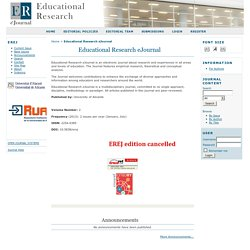 Educational Research eJournal