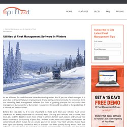 Utilities of Fleet Management Software in Winters