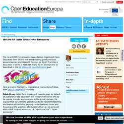 We Are All Open Educational Resources