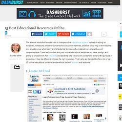 15 Best Educational Resources Online