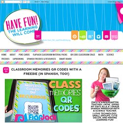 FlapJack Educational Resources: Classroom Memories QR Codes with a FREEBIE (in Spanish, too!)