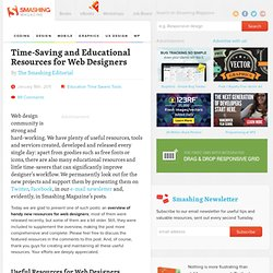 Time-Saving and Educational Resources for Web Designers - Smashing Magazine