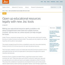 Open up educational resources legally with new JISC tools