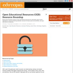 Open Educational Resources (OER): Resource Roundup