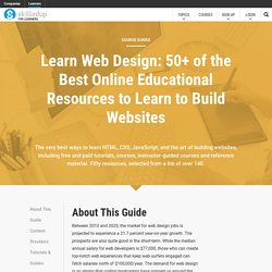 Learn Web Design: 50+ of the Best Online Educational Resources to Learn T0 Build Websites