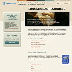 Educational Resources - World Savvy